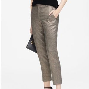 Banana Republic Metallic Avery Ankle Pants 4R NWOT